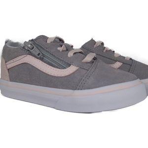 VANS Old Skool Zip Suede (Grey / Heavenly Pink)